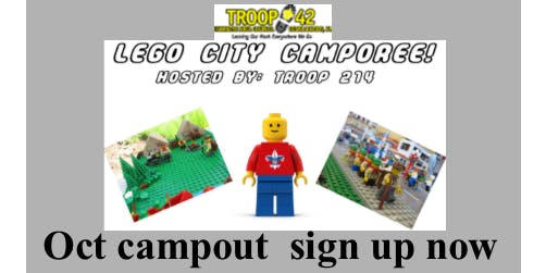 October Campout - Lego City Camporee