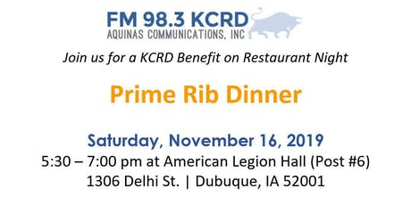 KCRD Prime Rib Dinner and Notre Dame Game tickets