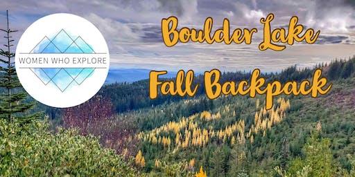 WWE PDX – Boulder Lake Fall Backpack Trip