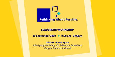 Rethinking What's Possible Leadership Workshop tickets