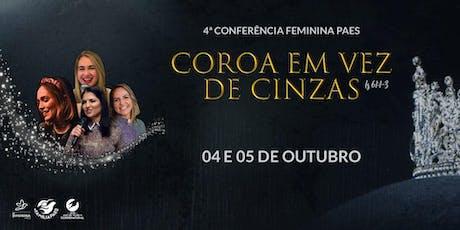 Conferência Feminina Paes ingressos