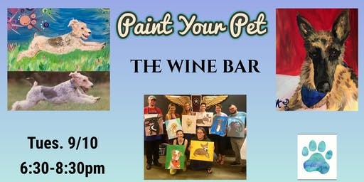 Paint Your Pet at The Wine Bar