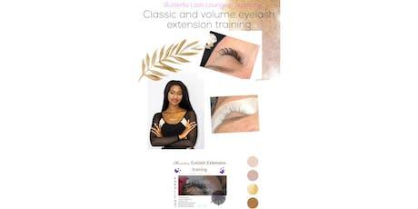 Classic & Volume EyeLash extension training tickets