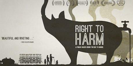 "UMD ""Right to Harm"" Film Screening tickets"