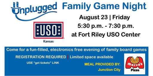 Unplugged Family Game Night AUGUST