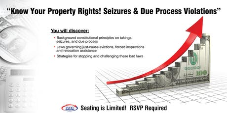 Know Your Property Rights! Seizures & Due Process Violations (SC) tickets