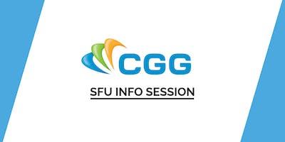 SFU CGG (Compagnie Générale de Géophysique) Info Session