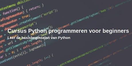 Python cursus voor beginners tickets