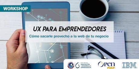 [Workshop] : UX para emprendedores. entradas
