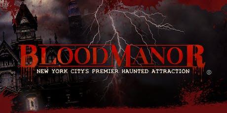 BloodManor 2019 - Saturday, November 9th tickets