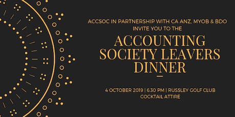 Accounting Society Leavers Dinner tickets