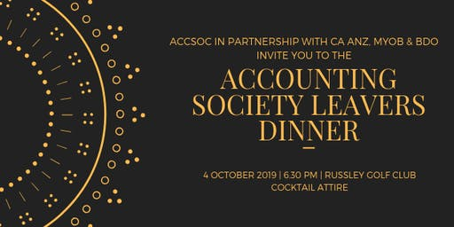 Accounting Society Leavers Dinner