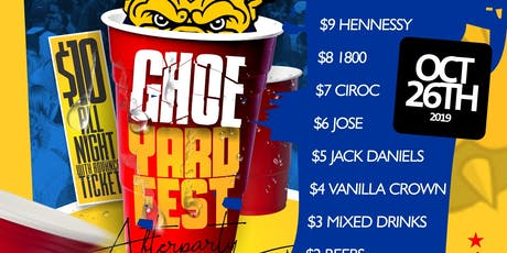 The GHOE Yard Fest After-Party  tickets
