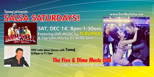 SALSA SATURDAYS in Berkeley - SAT. DEC 14 with LIVE MUSIC by N'Rumba!