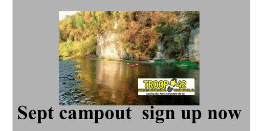 September Campout - Upper Iowa River Canoe Adventure
