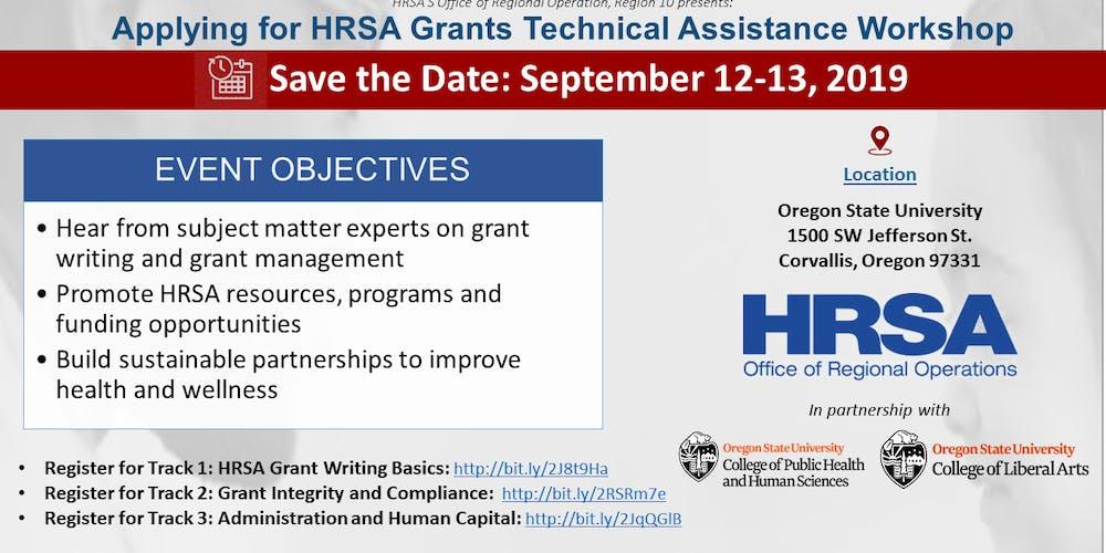 Oregon Grant Technical Assistance Workshop: Track 1 - HRSA