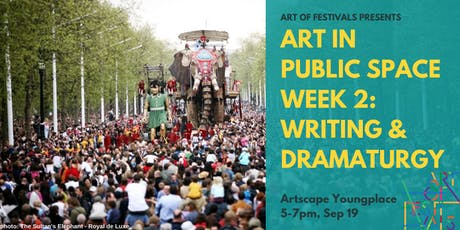 CREATE in Public Space: Toronto Session #2 - Writing & Dramaturgy tickets