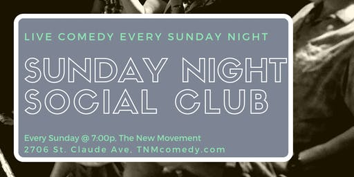 Sunday Night Comedy Social Club