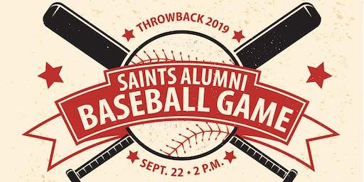 Throwback 2019: Saints Alumni Baseball Game