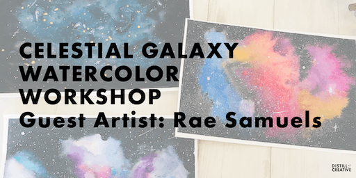 How to Paint a Celestial Watercolor Galaxy