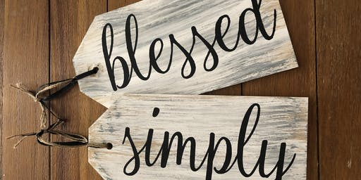 Simply Blessed Door Tags