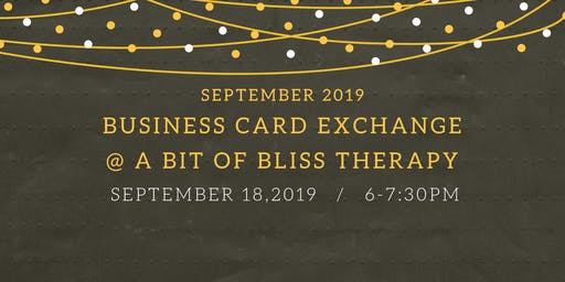 September 2019 Free Business Card Exchange