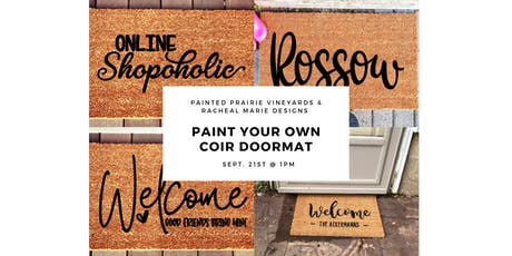Paint Your Own Coir Doormat tickets