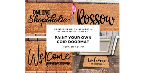 Paint Your Own Coir Doormat