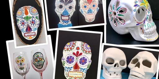 "Adult Open Paint (18yrs+) ""Anything Sugar Skull"""
