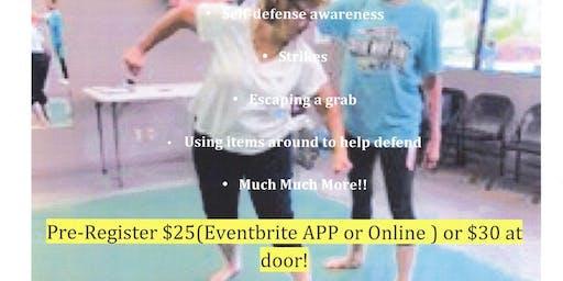 Septembers Women's Self Defense Class