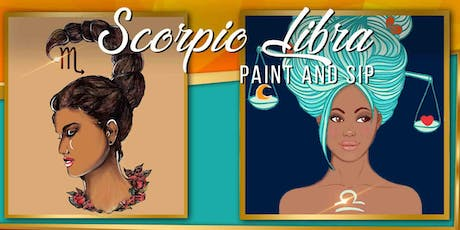 LIBRA/SCORPIO DIVA PARTY - Paint and Sip tickets