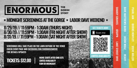 Enormous: The Gorge Story @ THE GORGE tickets