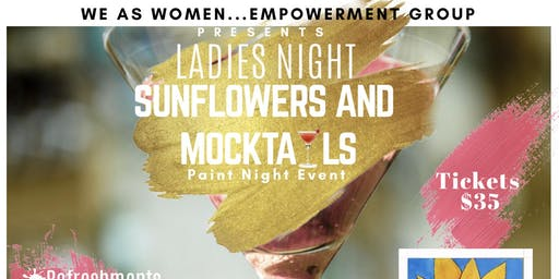 SUNFLOWERS AND MOCKTAILS PAINT NIGHT EVENT