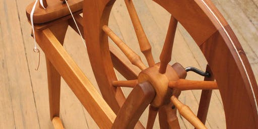 Learn to Use a Spinning Wheel! - Felt Fest 2019!