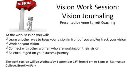 9-18-19 Vision Work Session: Vision Journaling tickets