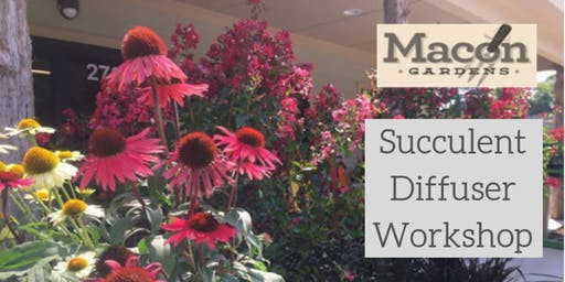 Succulent Diffuser Workshop at Macon Gardens