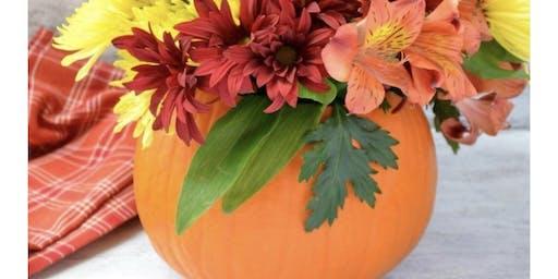 Pumpkin Flower Arrangement Class