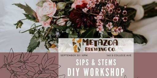 Flower Arranging Workshop: Sips and Stems at Metazoa