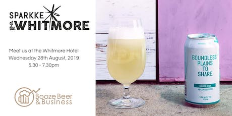 Booze Beer & Business Tasting with Sparkke August tickets