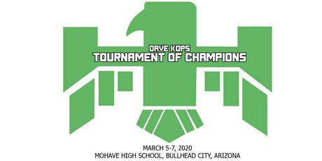 DAVE KOPS TOURNAMENT OF CHAMPIONS - DRY CAMPING PASS tickets