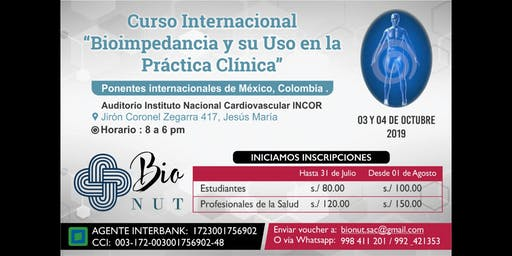 Curso Internacional de Bioimpedancia y su Uso en L