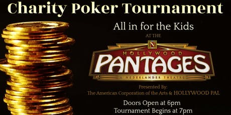 Poker at the Pantages | All in for the Kids tickets
