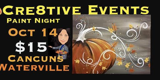 $15 Paint Night @ Cancun's in Waterville - Sue