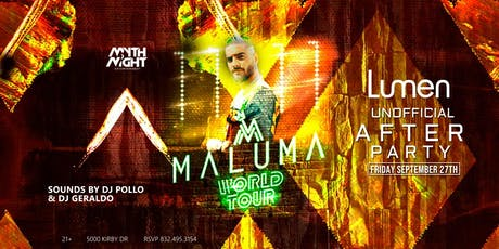 Maluma After Concert Party by Mythnight Entertainment tickets