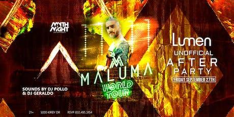 Maluma Unofficial Afterparty by Mythnight Entertainment boletos