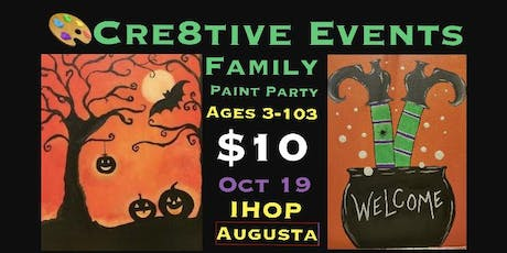 $10 Kiddos & Adults Paint Party @ IHOP Augusta tickets