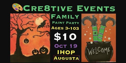 $10 Kiddos & Adults Paint Party @ IHOP Augusta