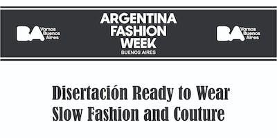 """Ready to Wear """"Elio De Angelis , Alejandra Gougy,Claudio Cosano"""