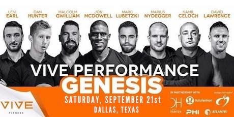VIVE Performance Genesis tickets