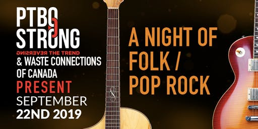 PTBOStrong and Waste Connections presents Folk & Pop Rock